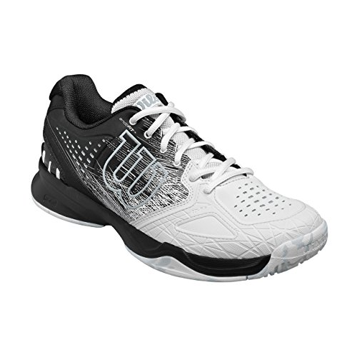 Wilson Kaos Comp, Chaussures de Tennis Homme Noir (Black / White / Pearl Blue)