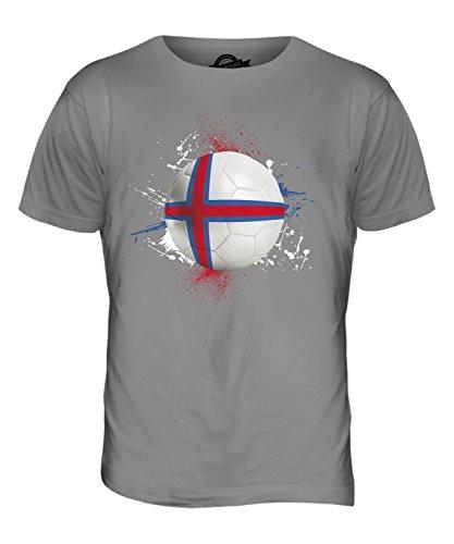 CandyMix Färöer Fußball Herren T Shirt Hellgrau