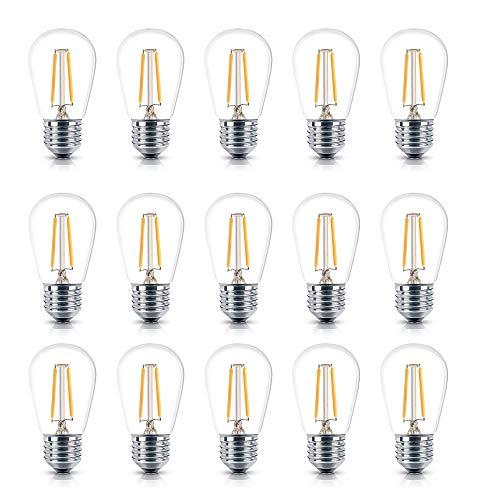 CMXX 10 Stück Vintage LED Edison Birne, 2 Watt Weiches Warmweiß 3000K Birne, E27 Base Hoher CRI Dekorative Antike Birnen Für Küche Esszimmer Nach Hause - 120v 36 Led-glühbirne