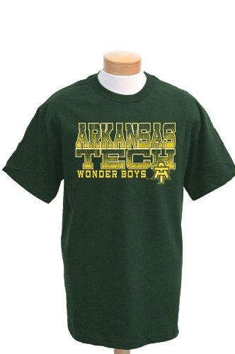 NCAA Arkansas Tech Wonderboys ACHO Short Sleeve T-Shirt, Herren, waldgrün