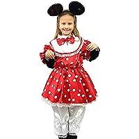 3f7d1ddec9a6 PICCOLI MONELLI Costume Minnie Bambina 8 9 Anni Vestito topolina Bimba di  Carnevale
