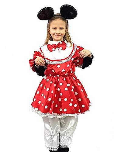 df9630521c9d PICCOLI MONELLI Costume Minnie Bambina 7 8 Anni Vestito topolina Bimba di  Carnevale