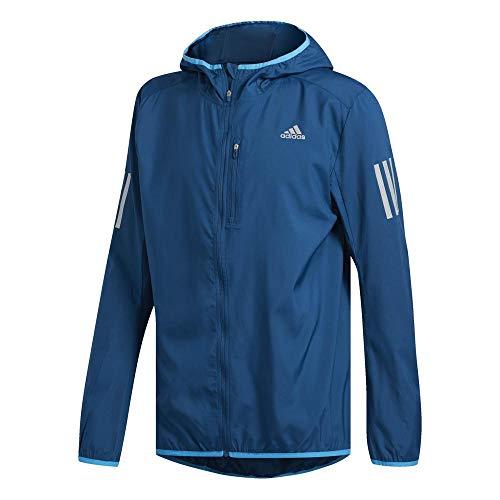 adidas Own The Run Wind Jacket Hooded Men M Blau (Legend Marine)