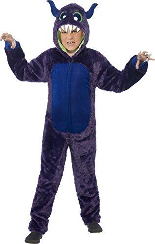 Smiffys Kinder Unisex Monster Kostüm, All-in-One mit Kapuze, Größe: S, 44060 (Kids Monster Halloween Kostüme)