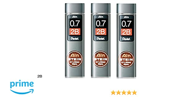 Set of 3 Pentel Mechanical pencil core replacement Ain Stein 0.3mm H 15 leads/×3 C273-H from Japan