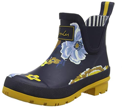 Joules Wellibob, Damen Gummistiefel, Blau (Navy Botanical Navbotan), 39 EU (6 UK) - Amazon Clearance