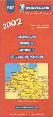 Allemagne Benelux Autriche République Tchèque. 1/1 000 000