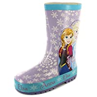 Frozen Forever Girls Rubber Material Wellies Pale Blue/Lilac