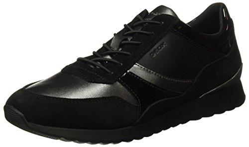Geox D Deynna E, Zapatillas para Mujer, Negro (Dk Grey/Black), 38 EU