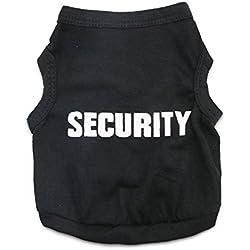 DroolingDog Shirts Chien Sécurité Petit Chien Vêtements de sécurité Pet T-Shirt pour Chiens XXX-Large (Neck: 21,2 '' Poitrine: 30,7 '') Noir