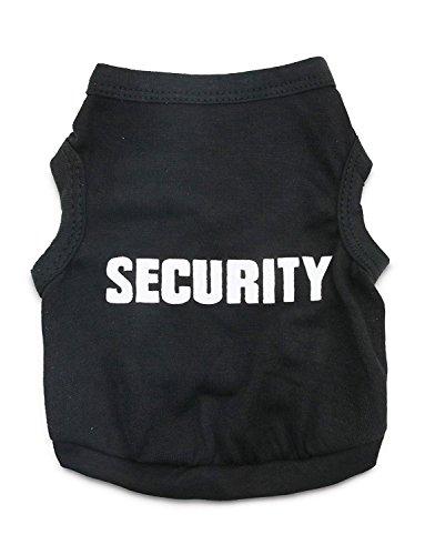 DroolingDog Hund Sicherheit Shirts Kleiner Hund Sicherheits-Kleidung-Haustier-T-Shirt für Hunde x-Large (Hals: 17.3 '' Brust: 23.6 '') schwarz
