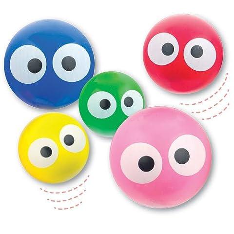 Balles Rebondissantes - Lot de 6 Balles Rebondissantes Colorées avec