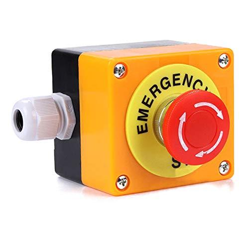 Pergrate 708/5000 1 No 1 Nc 10A 660V Parada de Emergencia Interruptor Seta Roja Interruptor Station - Corriente: 10A - Voltaje 660V - Incluye: - Material: ABS+Metal.