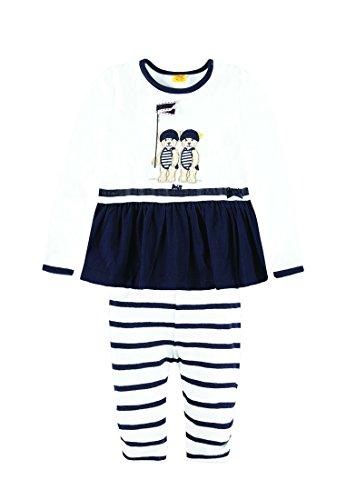 Steiff Collection Mädchen, Bekleidungsset, Set 2tlg. T-Shirt 1/1 Arm + Legging, Blau (marine 3032), 68