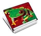 Luxburg® Design Aufkleber Schutzfolie Skin Sticker für Notebook Laptop 12 / 13 / 14 / 15 Zoll, Motiv: Froschduo