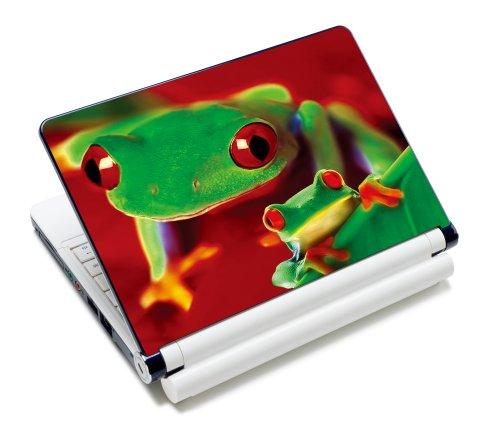 Luxburg® Design Aufkleber Schutzfolie Skin Sticker für Notebook Laptop 12 / 13 / 14 / 15 Zoll, Motiv: Froschduo - Design Notebook Skin