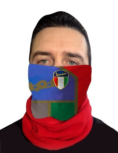 VESPA ROT GOLD SHIELD MASKE MIT FLEECE NECKTUBE FACEMASK NACKENWÄRMER SNOOD Gold-snood