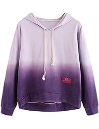 a8357042d7a9 FNKDOR Sweat à Capuche pour Femmes Tie-Dye Imprimé à Sports Hoodies à  Manches Longues Sweat-Shirt Pull…