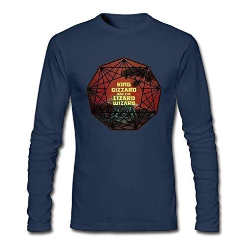 d688441430d90 King Gizzard The Lizard Wizard Long Sleeve T Shirts for Mens Navy