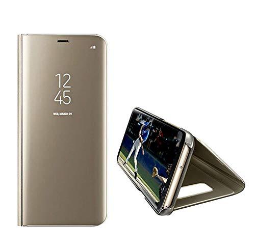 Sweau iPhone 5/5S/SE Coque Antichoc Miroir Portefeuille Bookstyle Étui Housse en Cuir Case, Miroir de Luxe Transparent Housse étui de téléphone Ultra Mince Slim Fit Miroir Coque de Téléphone Etui