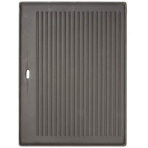 BBQ Chief Grillplatte Wendeplatte für Gasgrill, Kohlegrill, Elektrogrill passend für alle Grills beliebiger Marken in verschiedenen Größen erhältlich (44 x 25 cm)