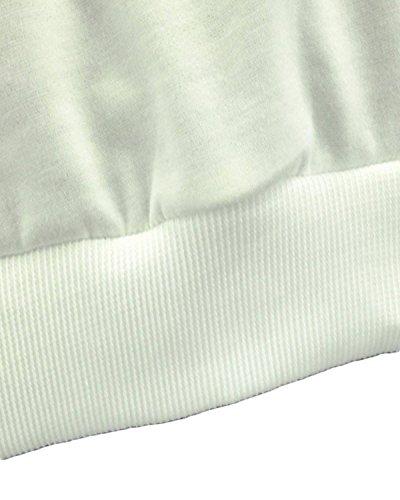 ZANZEA Femmes Automne Casual Imprimé Col Rond Pull Manche Longue Sweatshirt Noir