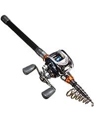 OUTERDO Portable Canne à Pêche en Carbone Fibre Grande Capacité de Charge Fishing Rod Pole Pêcher Poisson Mer 2.7M 8 Sections