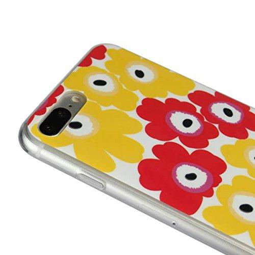 MOONCASE iPhone 7 Plus Coque, Ultra Mince Motif Etui Souple TPU Silicone Antichoc Housse Case pour iPhone 7 Plus (Fleur 07) Fleur 06