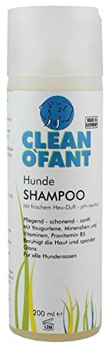 Preisvergleich Produktbild CLEANOFANT Hunde-SHAMPOO - 200 ml - Hundeshampoo mit Heu-Duft - für Kurzhaar- und Langhaar-Fell zur Fellpflege