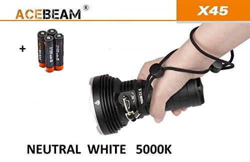 Acebeam x45Taschenlampe LED Profi Lumens 16500Meter 583Lux 85200Neutral