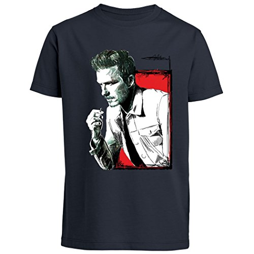 pushertees-t-shirt-bambino-navy-blue-ltb-10-sportivo-calciatore-football-manchester-inglese-old-glor