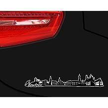Bautzen Skyline Aufkleber Sticker Autoaufkleber City Gedruckt in 4 Größen (30x4,8cm schwarz)