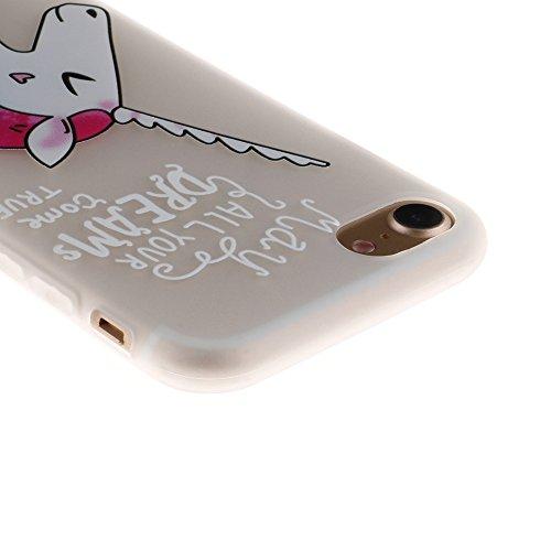 "MOONCASE iPhone 8/iPhone 7 Coque, [3D Relief Style] Étui Housse Slim Fit Résilient TPU Anti-rayures Anti-choc Protection Case pour iPhone 7/iPhone 8 4.7"" Sexy Unicorn"