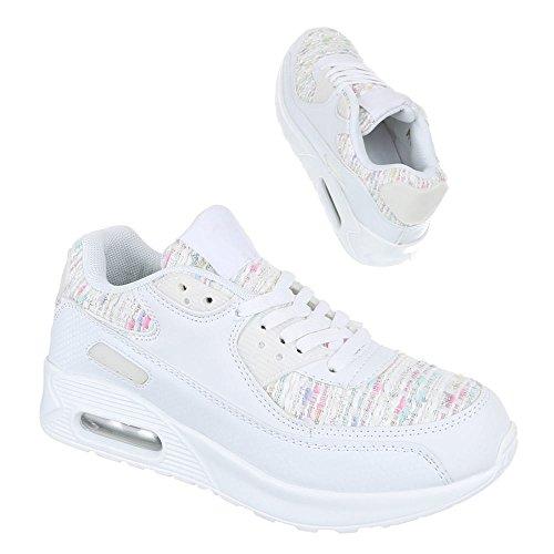 Sneakers Ital-design Basse Scarpe Da Donna Sneakers Basse Sneakers Basse Scarpe Casual Bianche R-18