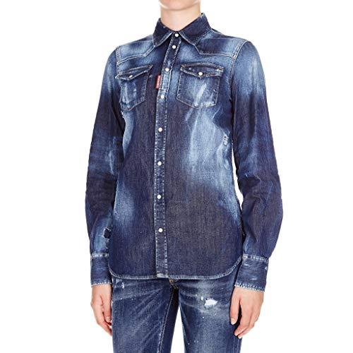 DSQUARED Camicia in Denim 42 usato Spedito ovunque in Italia a2e2d6e833b6