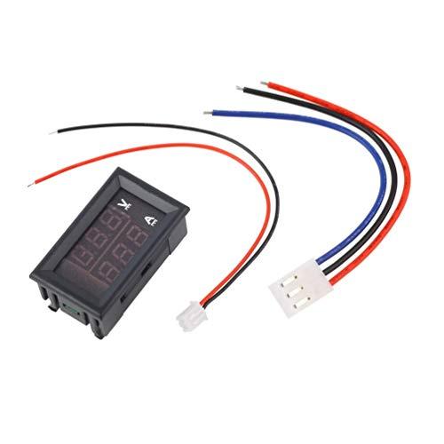 Wenwenzui DC 100V 10A Voltmeter Amperemeter Blau + Rot LED Amp Dual Digital Voltmeter Manometer schwarz -
