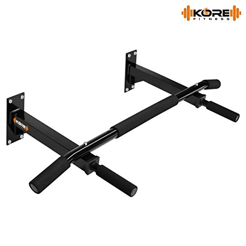 Kore Wall Mounting Chin Up Bar With Solid One Piece Construction bar