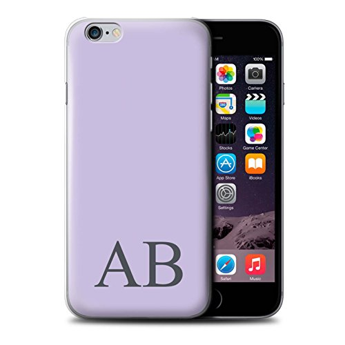 Personalisiert Pastell Monogramm Hülle für Apple iPhone 6S / Grünes Design / Initiale/Name/Text Schutzhülle/Case/Etui Lila