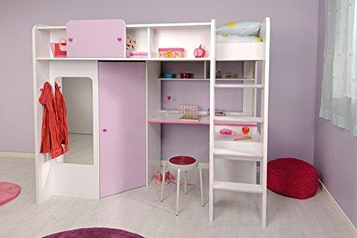 Parisot 2248lsur Set Möbel Kinderzimmer-Mademoiselle weiß megev Holz