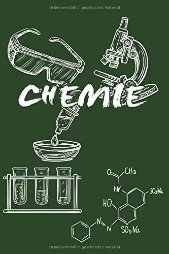 CHEMIE: Notizbuch für Chemiker | Journal Tagebuch Skizzenbuch Schreibheft | 120 karierte Seiten | Format 6x9 DIN A5 | Soft cover matt |