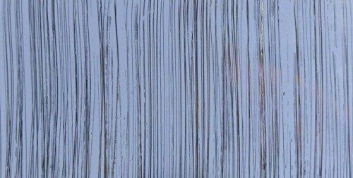 Wachsplatte hellblau silber, gestreift 20x10 cm - 9923 - Verzierwachsplatte 200x100 mm für Kerzen