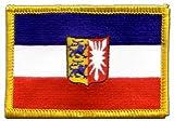 Flaggen Aufnäher Deutschland Schleswig-Holstein Fahne