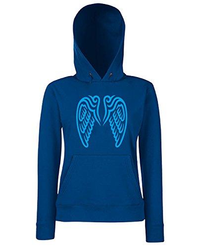 T-Shirtshock - Sweats a capuche Femme FUN0596 angle wings decal 1 11350 Bleu Navy