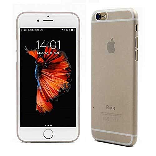 CELLBEE Kompatibel mit iPhone 6 6s Hülle, Extrem Dünn Handyhülle Slim Case Anti-Fingerabdruck Feder-Leicht Bumper Cover Schutz Tasche Schale Hardcase - Transparent