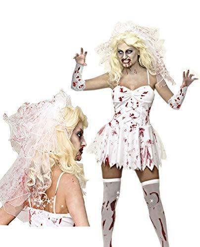 Mary Bloody Kostüm Halloween - Qi Hong Halloween, Bloody Mary Vampire Braut Teufel Kostüm Halloween Party Pack Zombie Kleid Krankenschwester Pack, Maskerade Requisiten,XXL