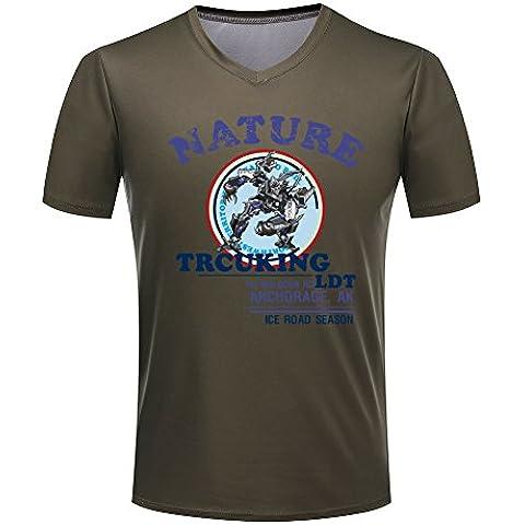 Transformers V-neck Cartoon totem short sleeve T-shirt For Mens