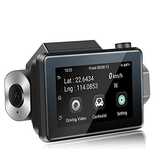 LDJC Mini WiFi Driving Recorder, HD 3 Zoll IPS Bildschirm Touch 270 ° Objektiv Nachtsicht 24 Stunden Parküberwachung Video Kommunikation Smart Phone Zwei-Wege-Stimme (118 Cam Dash)