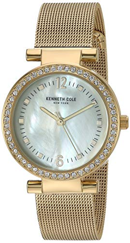 Kenneth Cole Women's Gold Tone Steel Bracelet & Case Quartz Watch KC50740001