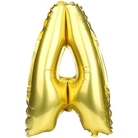 Modelado carta Los globos de papel de aluminio Decoración para fiestas Globos Dorado★A a Z★