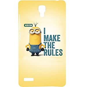 Casotec Minoin Rules Design Hard Back Case Cover For Xiaomi Redmi Note 4G